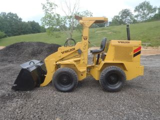 Waldon 6000 Rubber Tire Mini Wheel Loader All Wheel Drive Perkins Diesel Look photo