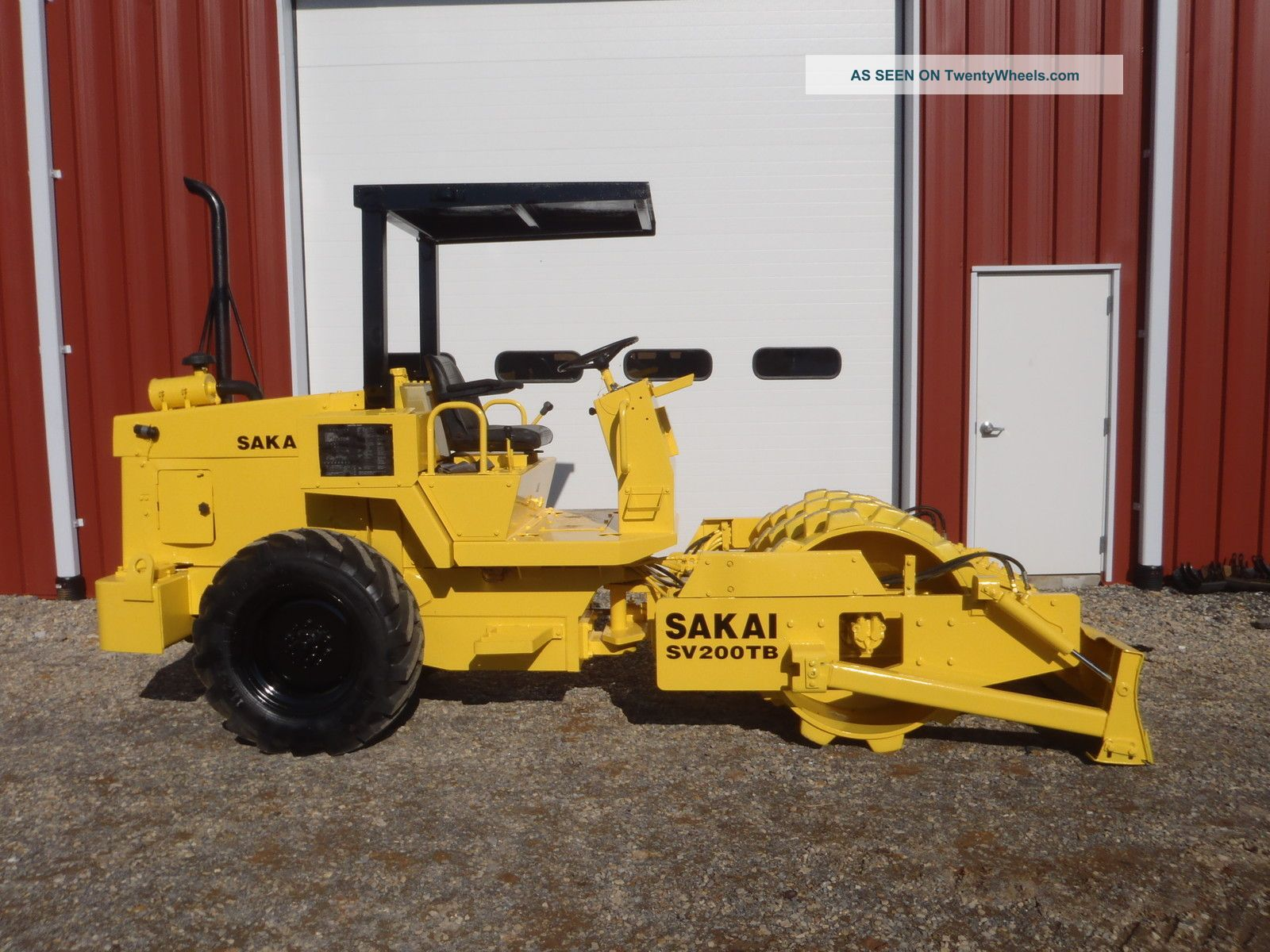 2001 Sakai Sv200tb Vibratory Sheeps Foot Padfoot Roller Push Blade Only 1455 Hrs Compactors & Rollers - Riding photo