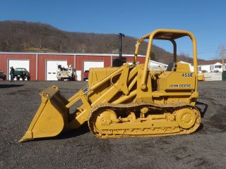 1987 John Deere 455e Crawler Track Loader Good U/carriage Runs Works Great Look photo