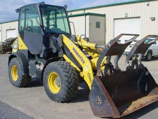 2007 Komatsu Wa80 - 5 Wheel Loader With Cab With A/c Gp Bucket W/grapple photo