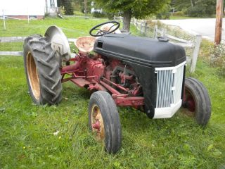 Ford Tractor 8 N,  Antique 1950s Mostly Restored,  Rebuilt Engine,  12v,  New Tires,  Me. photo