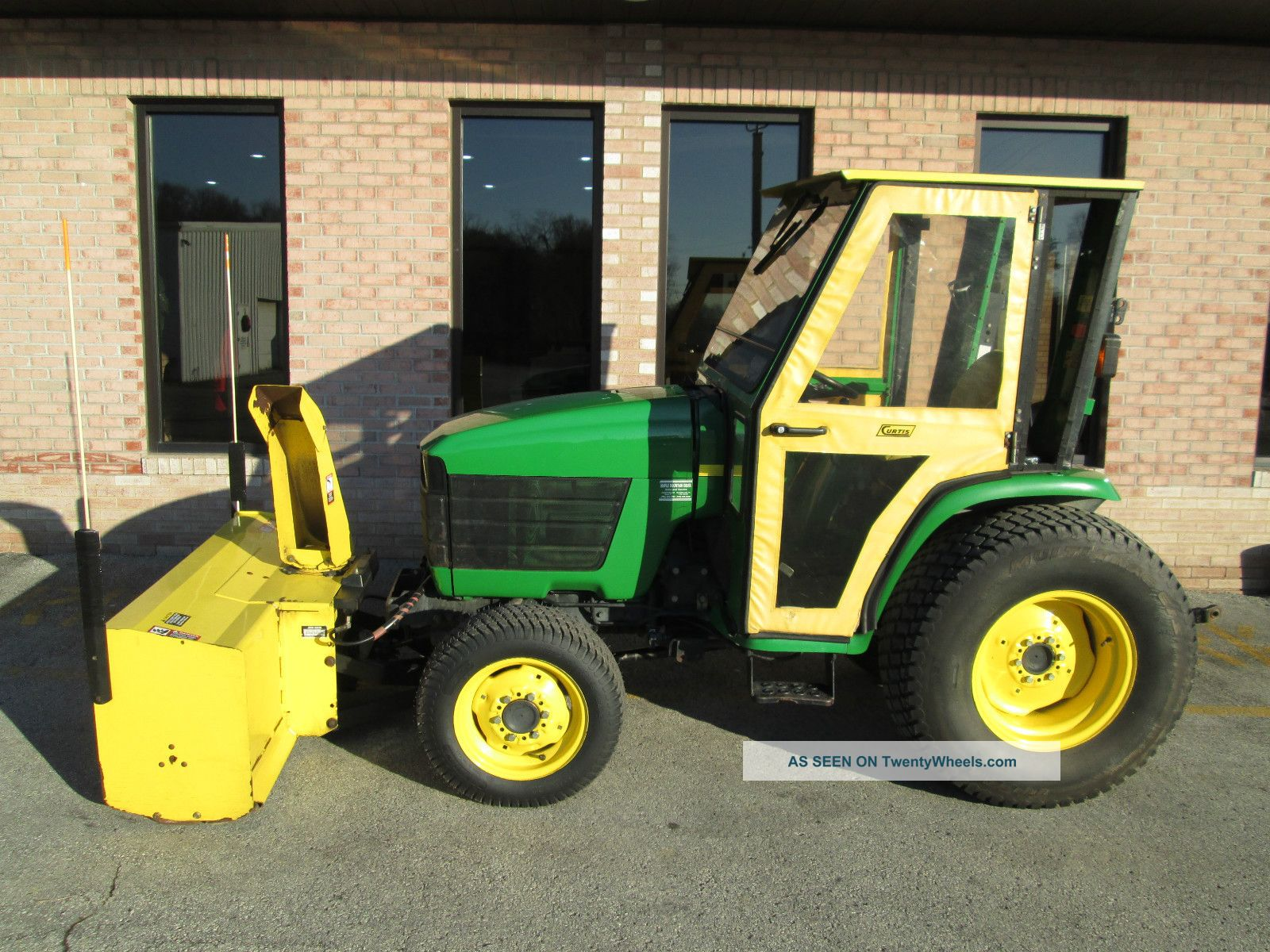 2000 John Deere 4300 4x4 Diesel Hydrostatic 1 Owner Cab Mower Plow Snowblower Tractors photo