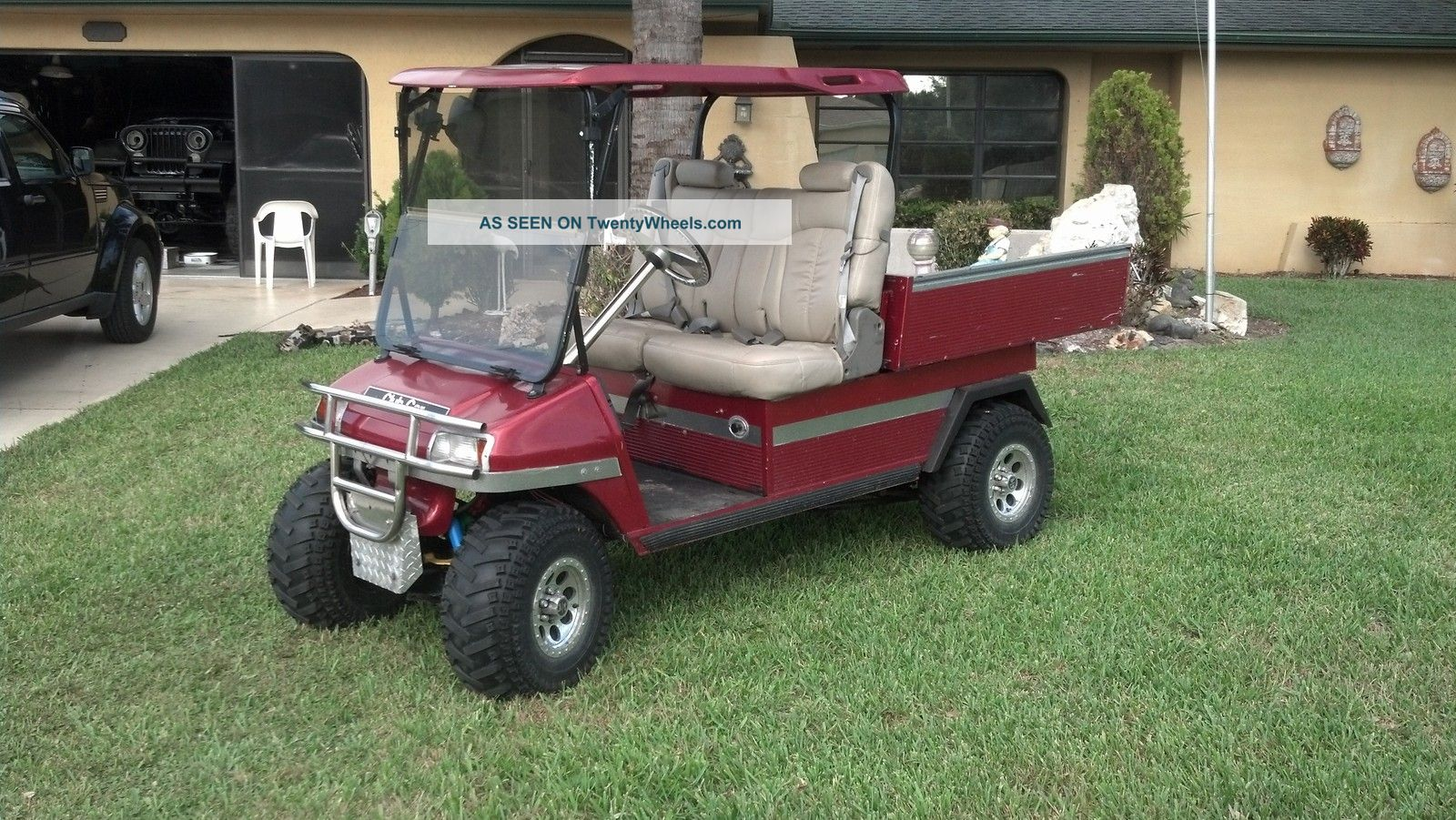 Carryall Utility Cart Atv With Gas Honda Engine And Dump Bed Utility Vehicles photo