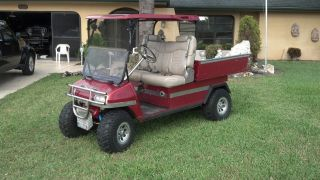 Carryall Utility Cart Atv With Gas Honda Engine And Dump Bed photo