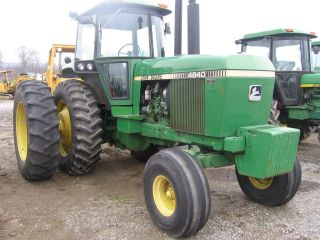 John Deere 4640 With Dauls Cab Air 6700 Hrs Qud.  Shift In Pa Very Strong photo