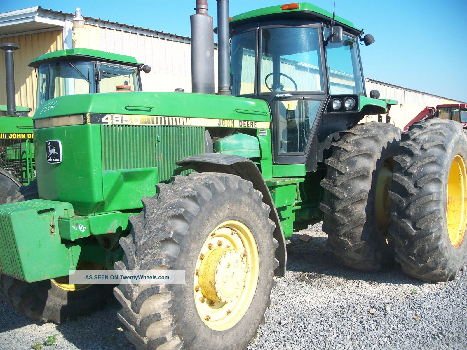 John Deere 4850 4x4 Cab Working Air Power Shift Dauls 3 Remotes Work Ready Tractors photo