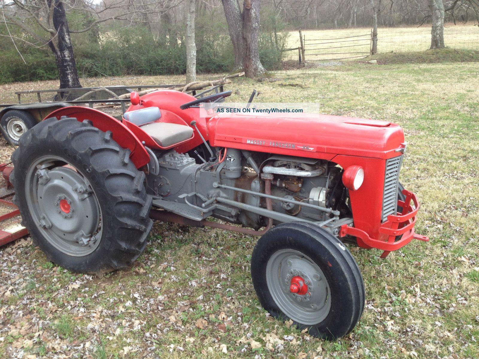 Massey Ferguson 35 Tractor : Massey ferguson tractor with agri bush hog
