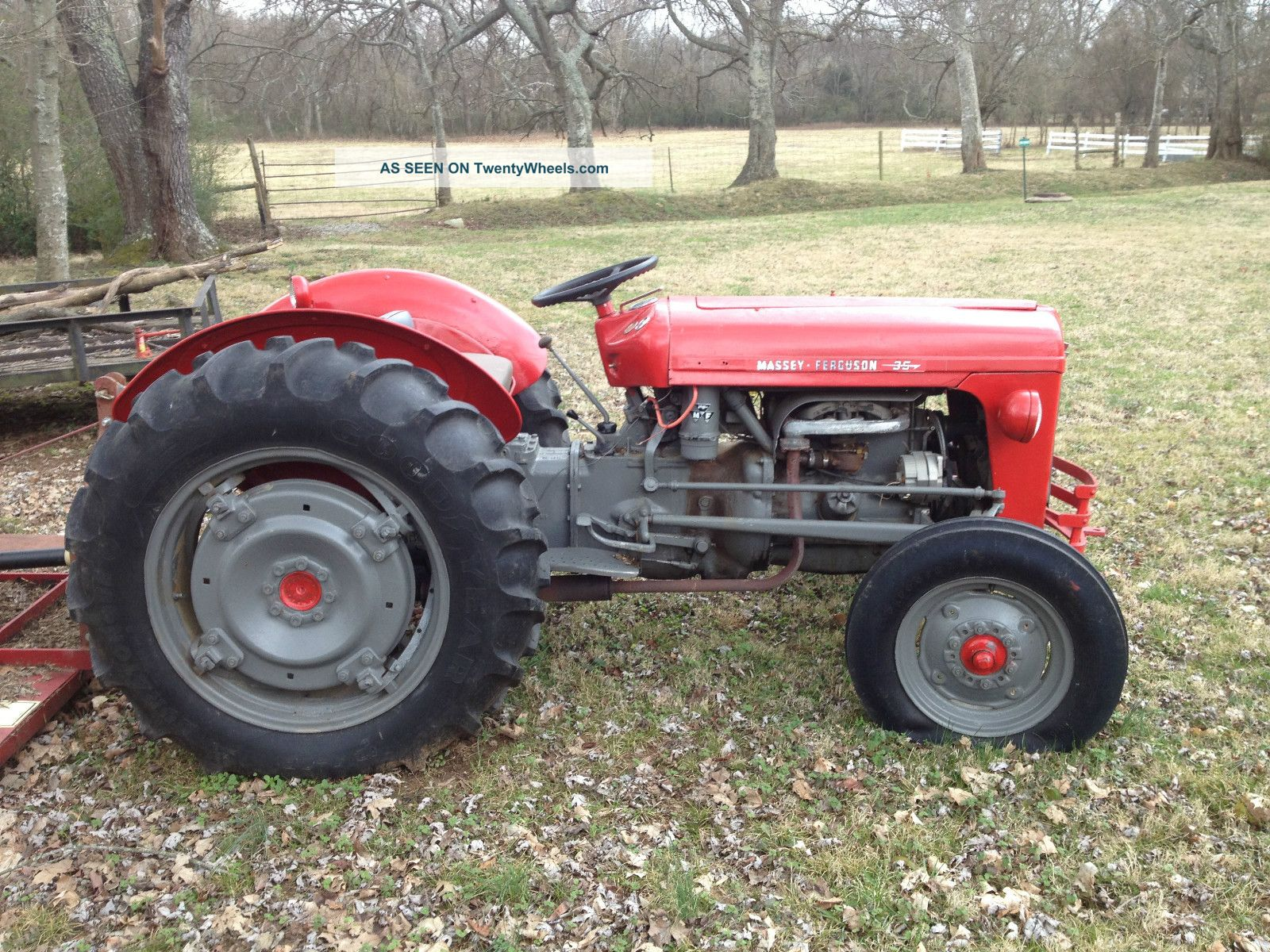 Massey Ferguson 35 Gas Tractor : Massey ferguson tractor with agri bush hog