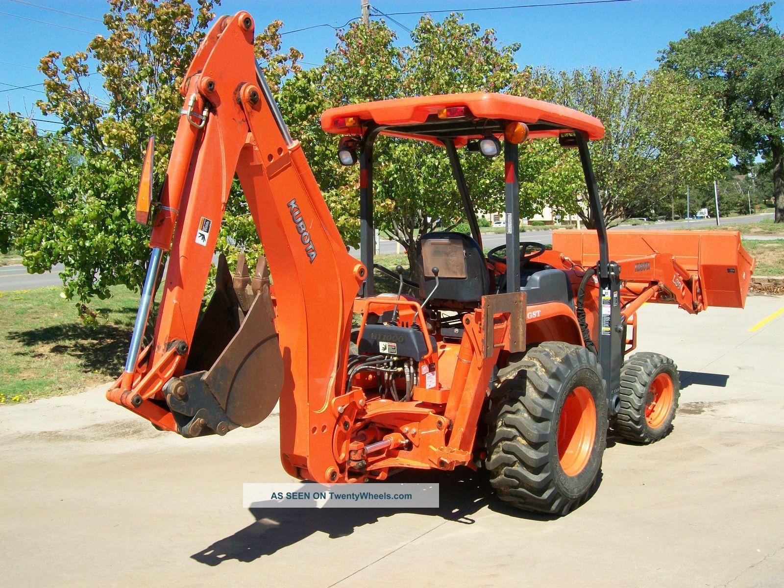 Kubota Tractor Backhoe Buckets : Kubota l compact tractor loader backhoe with