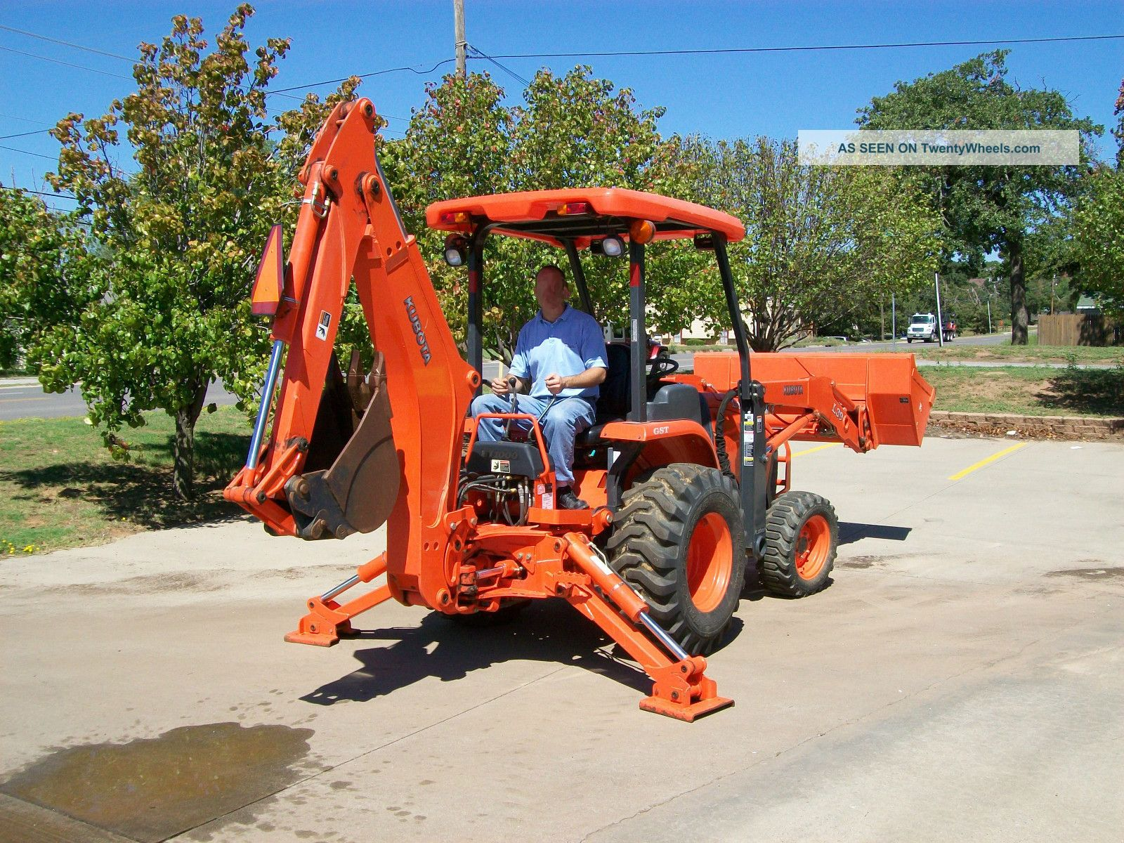 2008 Kubota L39 4x4 Compact Tractor Loader, Backhoe, With Forks And
