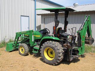 John Deere 4310 Compact Tractor & Loader & Backhoe - Diesel 4x4 - Pwr Reverser photo