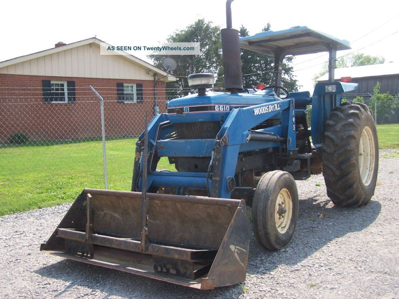 Ford New Holland 6610s 2wd Loader Bale Spear Work Ready Tractors photo