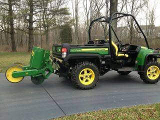 2012 John Deere Gator 825i With Hydraulic 3 - Point Hitch & 2 - Row Flex 71 Planter photo