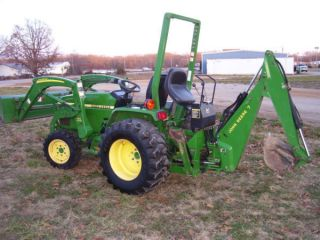 790 John Deere 4wd Compacttractor Loader/backhoe photo