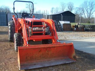 Kubota L3830 4wd Tractor Loader 2005 765hrs Aux.  Hyd.  Exc Cond photo