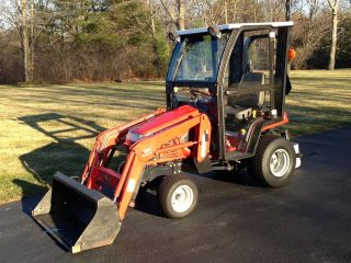Massey Ferguson 2310 Tractor - Loader - Snow Blower With Custom Curtis Cab photo