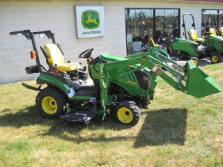 New John Deere 1 Series 1026r Sub - Compact Tractor With Front Loader And Mower photo