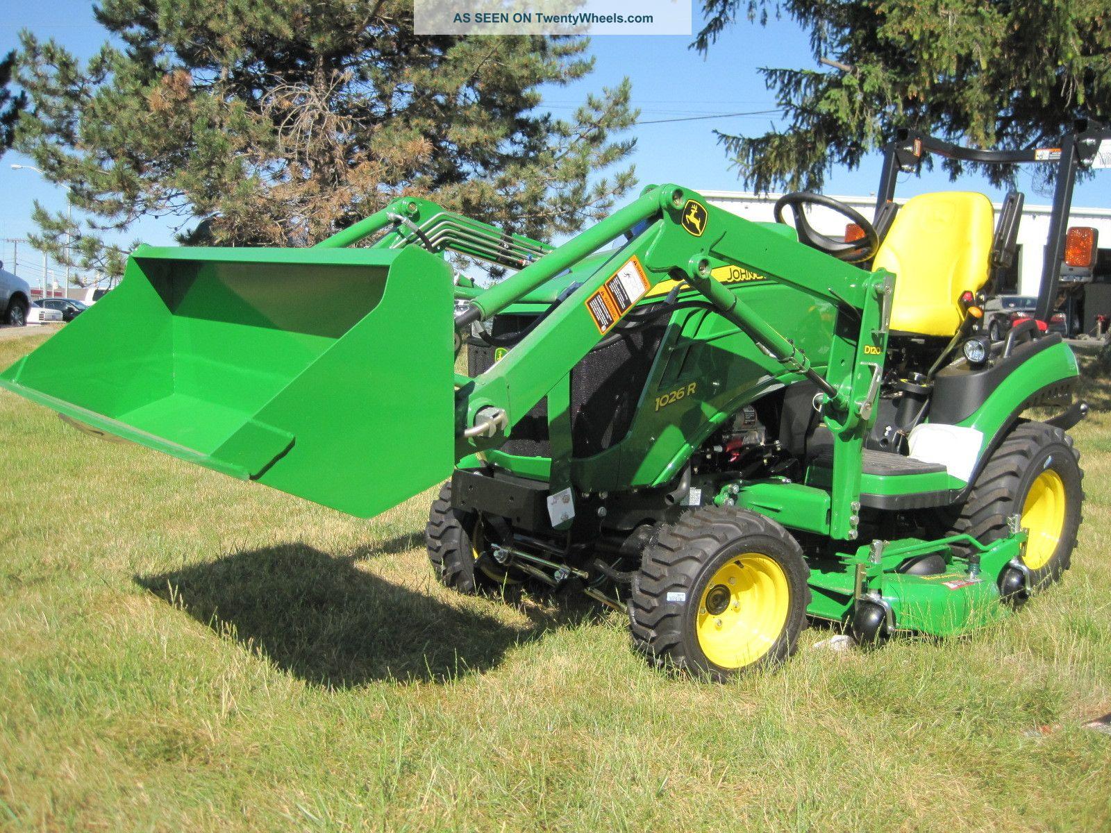 John Deere 1026r Loader Snow Plow : New john deere series r sub compact tractor with