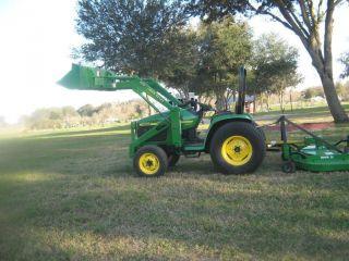 1999 John Deere Jd 4300 Tractor W/ 420 Loader &