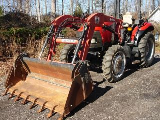 Case Jx55 Utility Tractor,  508 Hours,  4 Wd,  Loader W/ 4n1 Bucket,  58 Hp,  Vg Cond photo