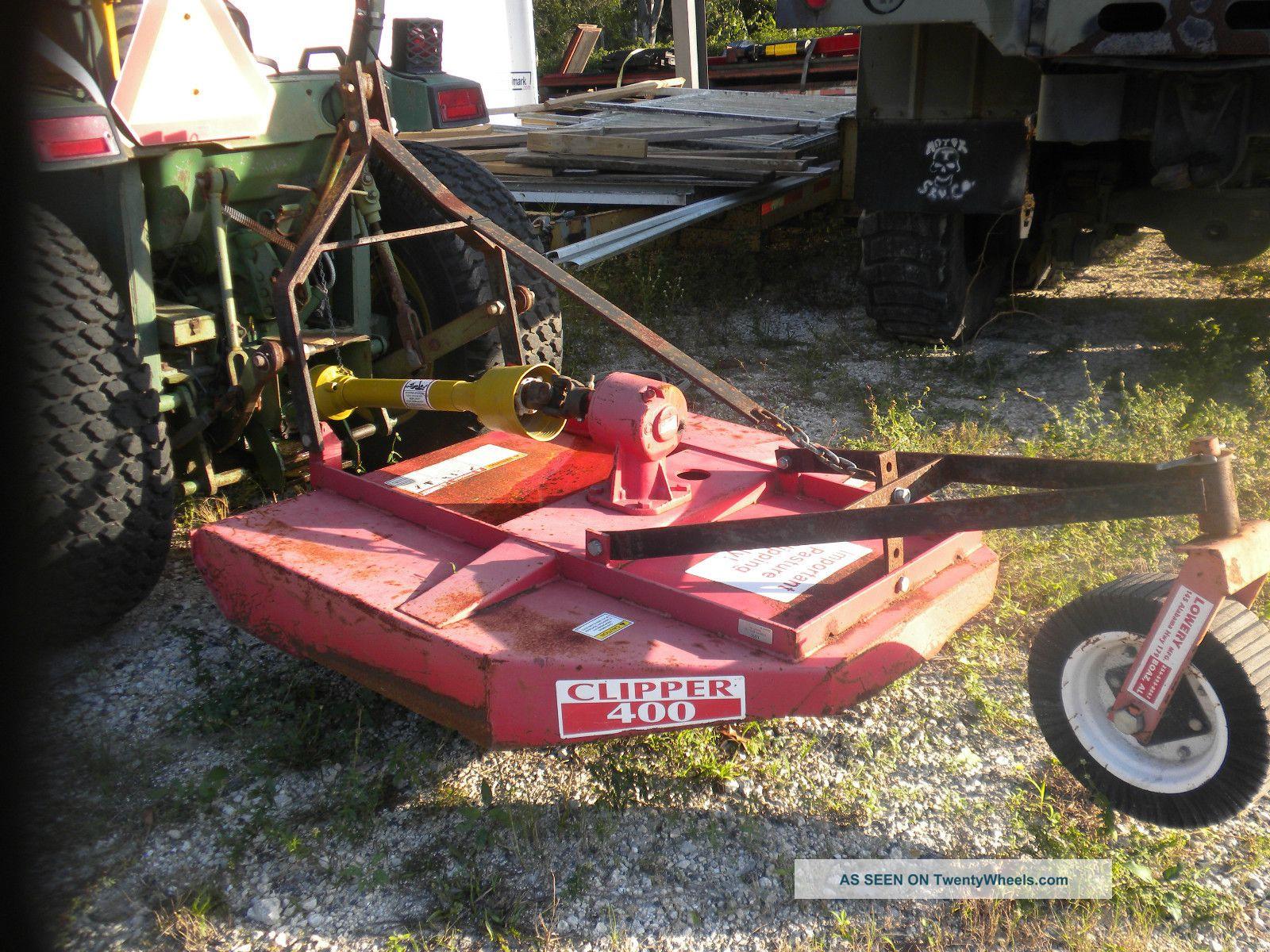 John Deere Bush Hog : John deere farm tractor with bush hog