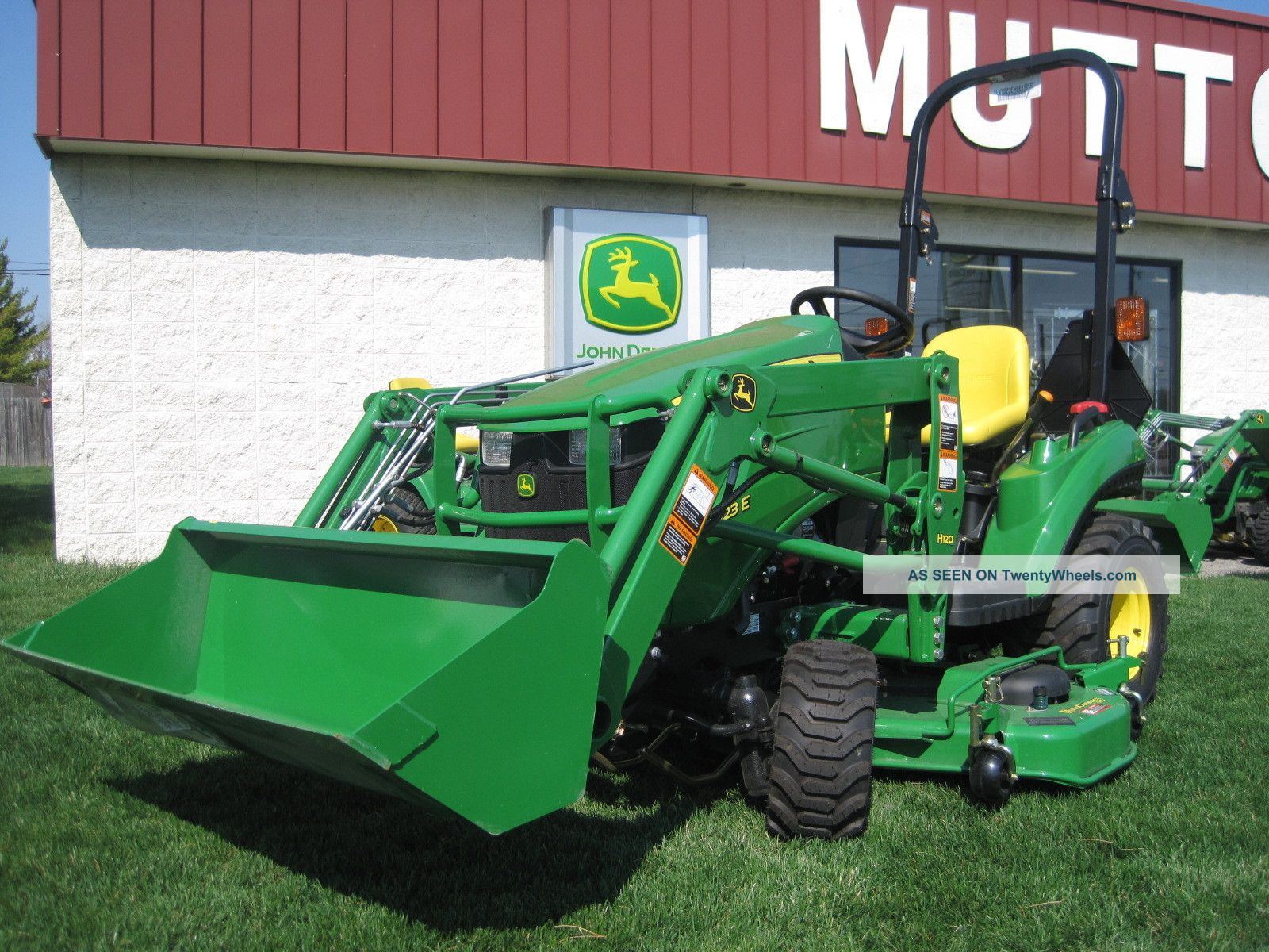 New John Deere 1023e 1 Series Sub Compact Tractor With Front Loader & Mid Mower Tractors photo