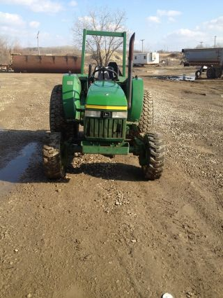 John Deere 1070 4x4 Tractor Diesel 3 Point Hitch Pto Turf Tires Low Hours photo