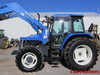 Ford New Holland Ts110 Diesel Farm Agriculture Tractor With Cab & Loader 4x4 photo