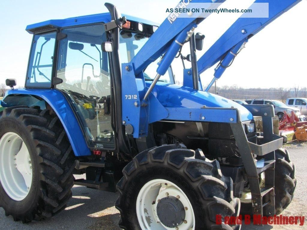 ford new holland ts110 diesel farm agriculture tractor with cab loader 4x4. Black Bedroom Furniture Sets. Home Design Ideas