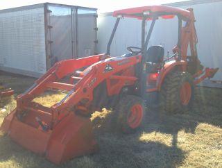 2009 Kubota L39 4x4 Compact Tractor 6 ' Loader,  Backhoe,  18