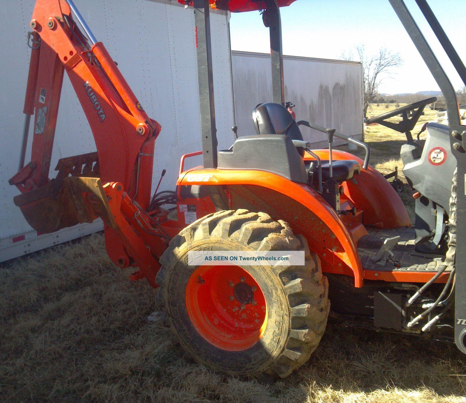 Kubota Tractor Backhoe Buckets : Kubota l compact tractor loader backhoe