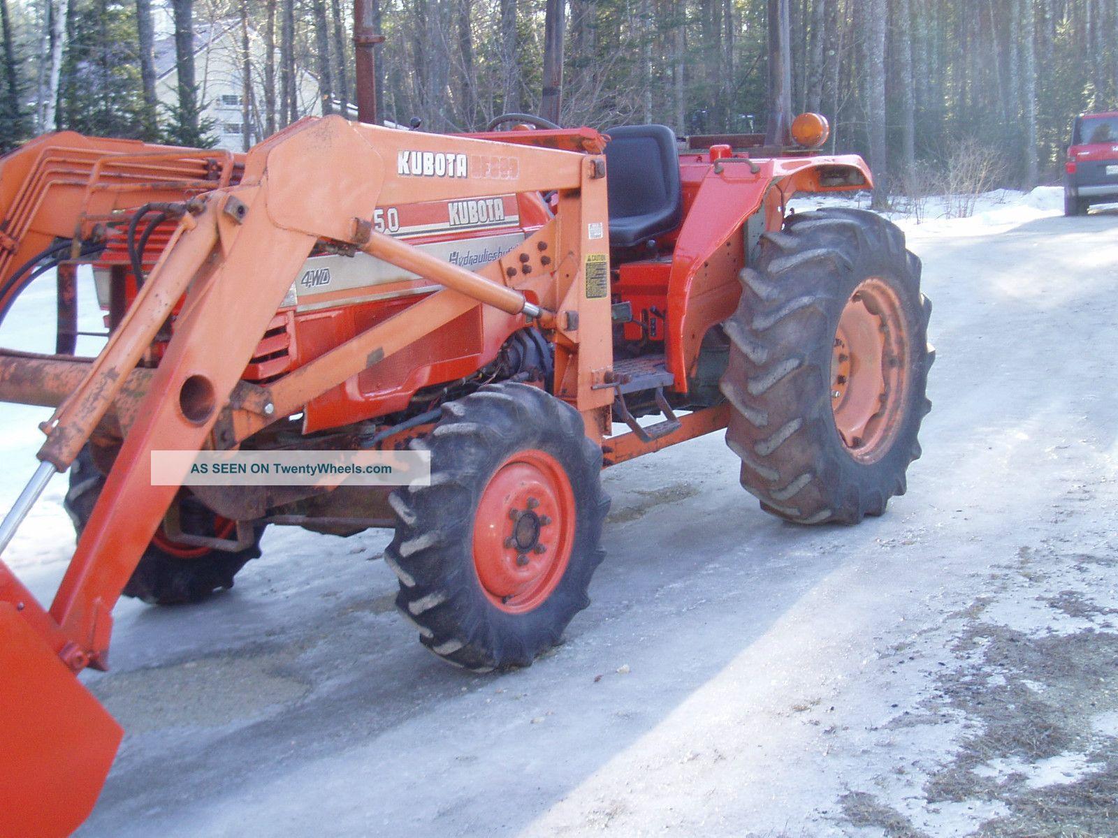 Kubota L3350 40hp 4x4 4 Cylinder Diesel With Loader