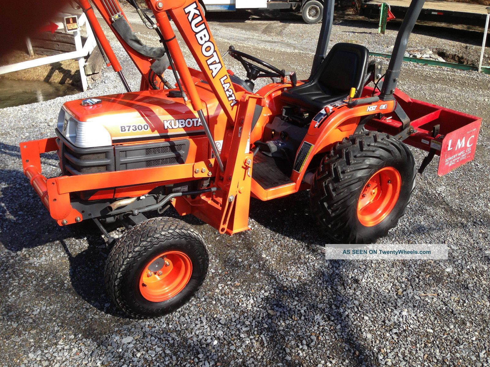Kubota Box Blade : Kubota compact tractor diesel hydro loader box