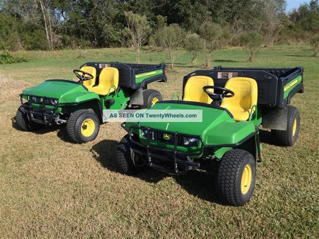 ' 09 John Deere Tx 4x2 Gator 15hp With Power Bed,  Brush/fender Guards,  Low Hours Utility Vehicles photo