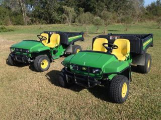 ' 09 John Deere Tx 4x2 Gator 15hp With Power Bed,  Brush/fender Guards,  Low Hours photo