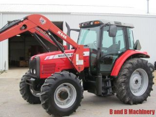 Massey Ferguson 5465 Diesel Farm Tractor 4x4 Loader Cab photo