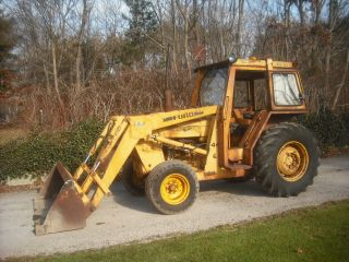 Ford New Holland 445 Industrial Tractor,  Loader,  Cab,  Pto,  Diesel,  3 Point Hitch photo