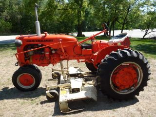 Allis Chalmers - Model Ca With 6 ' Woods Mower photo