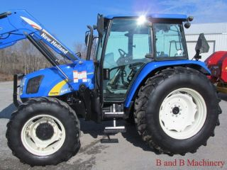 Ford New Holland T5070 Diesel Farm Agriculture Tractor With Cab & Loader 4x4 photo