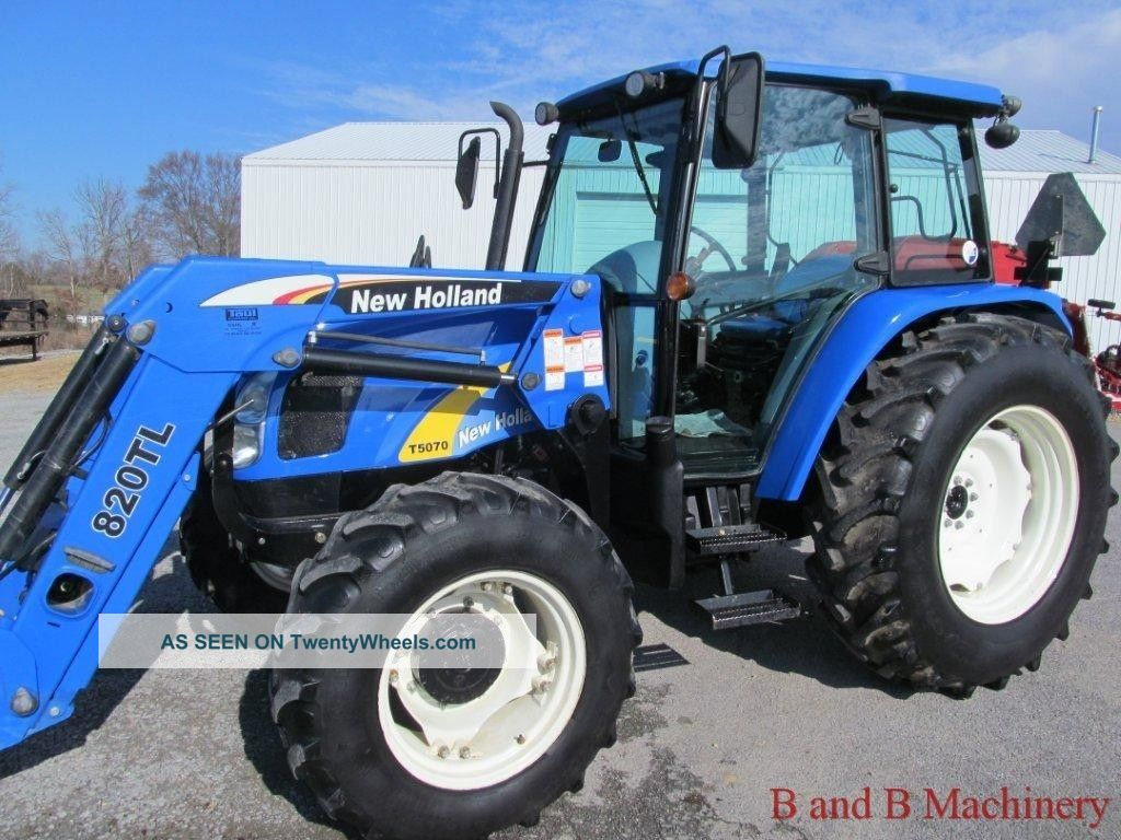 New Holland 75hp 4x4 Tractors : Ford new holland t diesel farm agriculture tractor