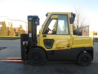 2007 Hyster 10000 Lb Capacity Forklift Lift Truck Pneumatic Tire W/heated Cab photo