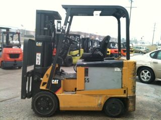 2008 Caterpillar Electric Cushion 6000 Lb E6000 - Ac Forklift Lift Truck photo