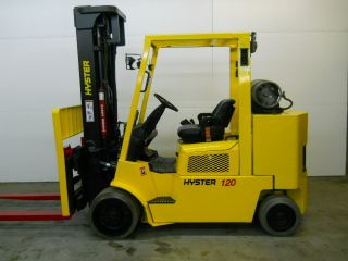 2005 Hyster 12000 Lb Capacity Lift Truck Forklift Triple Stage Mast Full Service photo