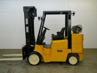 2005 Yale Glc080lj 8000 Lb Capacity Lift Truck Forklift Cushion Tires photo