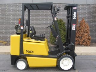 2004 Yale Glc060 Forklift 6000lb Cushion Lift Truck Hi Lo photo