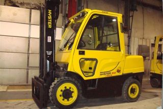 2008 Hyster 9000 Lb Capacity Forklift Lift Truck Pneumatic Tire W/heated Cab photo