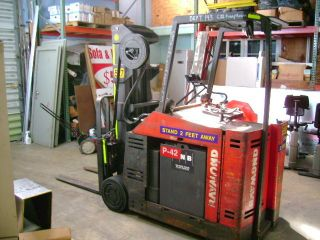 Raymond Stand Up Electric Forklift 4400lb Cap.  176