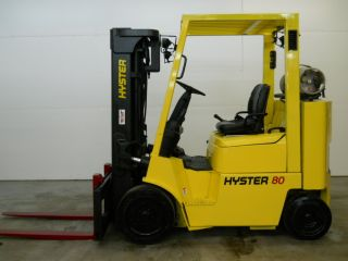 2005 Hyster S80xmbcs 8000 Lb Capacity Lift Truck Forklift Cushion Tires photo