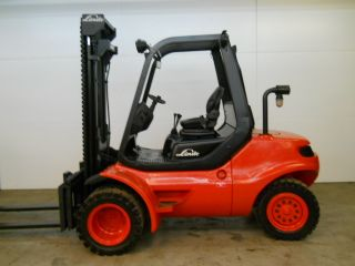 Linde H45d - 600 10000 Lb Capacity Forklift Lift Truck Dual Pneumatic Tire photo