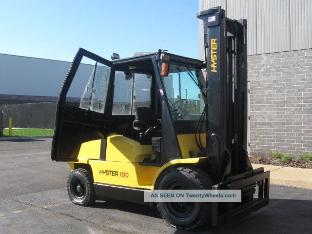 hyster 10000 lb capacity forklift lift truck pneumatic. Black Bedroom Furniture Sets. Home Design Ideas